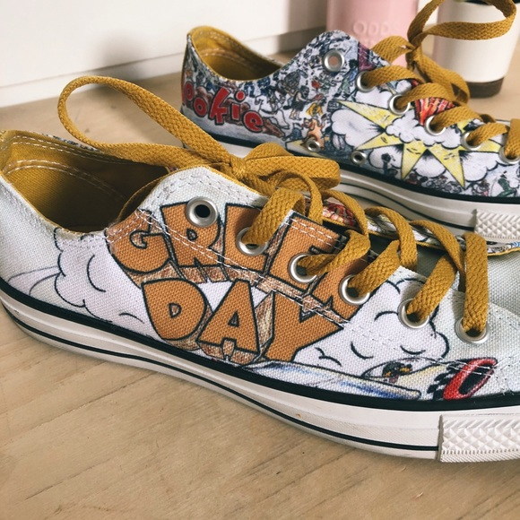 1972a64b53bd Converse Other - Super rare Green Day Converse low tops men s 7.5